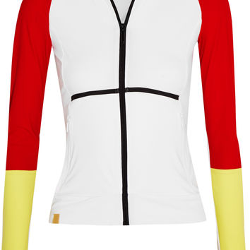 Monreal London - Color-block stretch-jersey hooded jacket