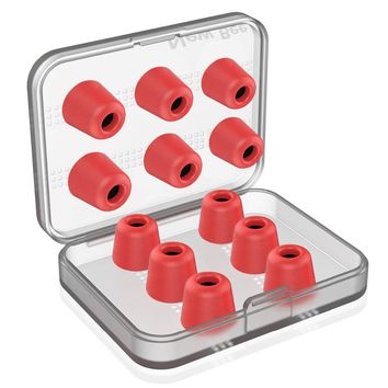 6 Pairs Replacement Earphone Tips Noise Isolation Red Memory Foam Headset Pads