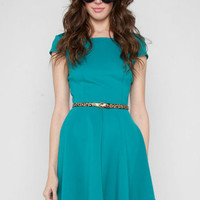 Learn To Skate Dress in Teal