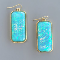 Aqua Glacier Iridescent Earrings