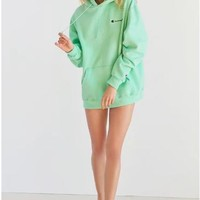 Champion Embroidered hoodie and hoodie for men and women Light green