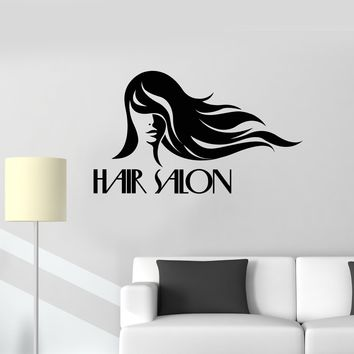 Vinyl Wall Decal Hair Salon Woman Stylist Hairdressing Decor Art Stickers Mural (ig5607)