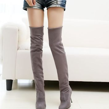 Fashion Women Over the Knee Boots Winter Shoes Woman Warm Fur Lining Knee High Boots 2