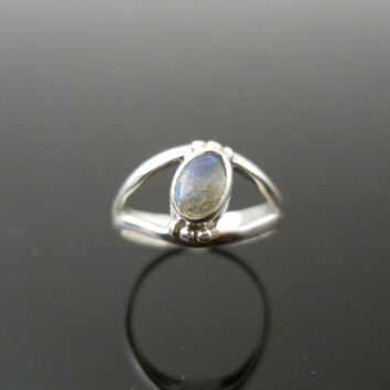 Tourmaline Ring, Silver Ring, Pinky Ring, Small Silver Ring, Sterling Ring, 925 Ring, Size 4 Ring, Small Band Ring, Old Silver Ring