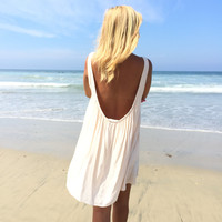 Dare To Bare Shift Dress In Cream