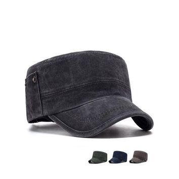 Rivets Style Men Flat Top Hats Cotton Snapback Flat Cap Army Cadet Hat Women Baseball Cap Gorros Hombre Hip Hop