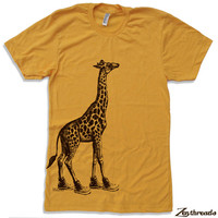 Mens GIRAFFE (in High Tops) american apparel t shirt S M L XL (17 Color Options)