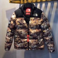 Supreme x The North Face Winter Warm Cardigan Jacket Coat