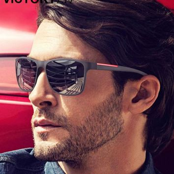 Sunglasses 2018 Fashion Men Driving For Men Brand Design High Quality Mirror