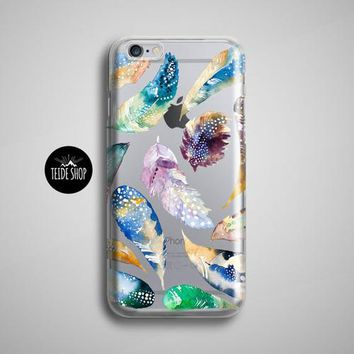Feathers Clear iPhone 8 Case Transparent iPhone 7