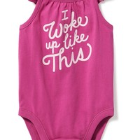 Graphic Flutter-Sleeve Bodysuit for Baby | Old Navy