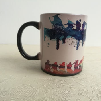 Lord of rings mugs LOTR watercolor mugs Not all those who wander are lost coffee mug morph heat changing color porcelain Tea Cup