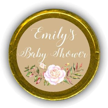 Floral Swag Baby Shower Chocolate Coins