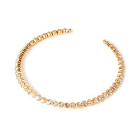 FOREVER 21 Rhinestone Choker Gold/Clear One