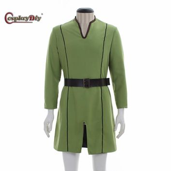 Cosplay Medieval Men Costume Fantasy Viking Norseman Shirt Tunic
