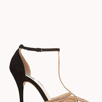 FOREVER 21 Night Moves T-Strap Heels