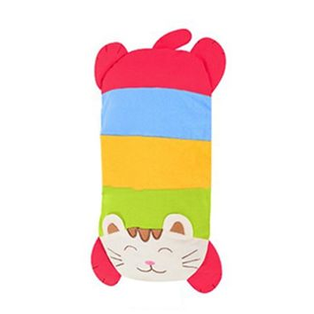 Baby Child Lovely Cartoon Cat Crepe Cotton Buckwheat Pillow 40*20cm