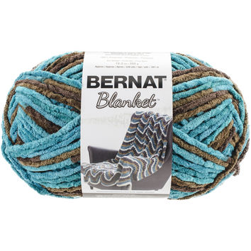 NEW! Bernat Blanket Big Ball Yarn-Mallard Wood