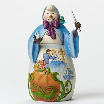 Jim Shore Disney  Bibbidi Bobbidi Yule Snowwoman and Cinderella-4046022