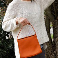 90's Coach Geometric Orange Handbag