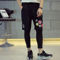 Summer Hip-hop Casual Korean Print Pants Couple Shorts [6541169923]