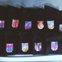 Tie Dye Pocket T Shirt- Choose your fabric!
