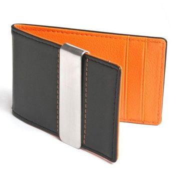 Slim Leather Hybrid Wallet Money Clip