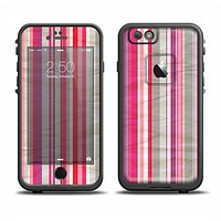 The Vintage Wrinkled Color Tall Stripes Apple iPhone 6 LifeProof Fre Case Skin Set
