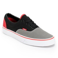 Vans Era Tri-Tone Black, Grey, & Red Skate