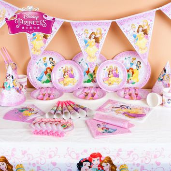Disney Princess Kids Birthday Party Decoration Set Party Supplies Baby Birthday Party Pack Event Party Supplies