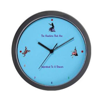 Clock for Dancers Wall Clock> Dancers Clock> Caution Dancers At Work