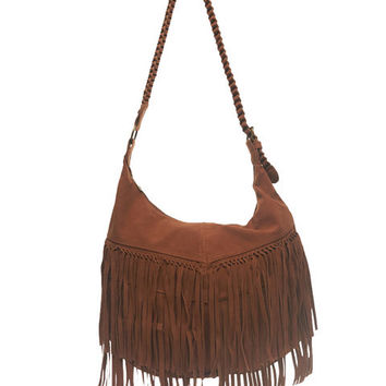 Braided Fringe Hobo Bag | Wet Seal