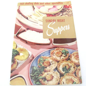 Vintage Sunday Night Suppers Recipe Booklet, 1950's Culinary Arts Institute, Sunday Dinner Recipes, Vintage Cookbook, 1950's Old Cookbook