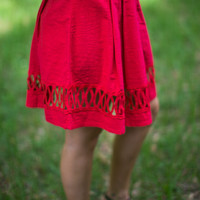Kiss And Run Skirt in Red