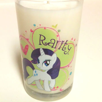 MLP Rarity Candle - 8 oz Soy Candle - CHOICE of SCENT