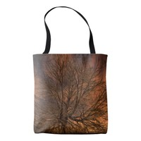 Bare tree at sunset, tote-bag tote bag