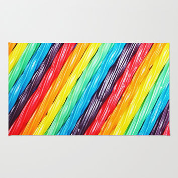 Rainbow Licorice Area & Throw Rug by lilkiddies