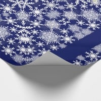 Snowflakes Lace Wrapping Paper