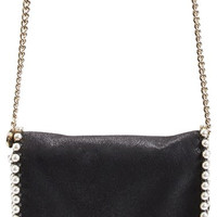 'Falabella' Embellished Faux Leather Crossbody Bag