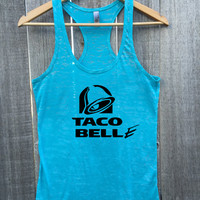 TACO BELLE Workout Athletic Fitness Gym Racerback Tank Top
