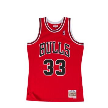 Mitchell & Ness Scottie Pippen 1997-98 Swingman Jersey Chicago Bulls in Red