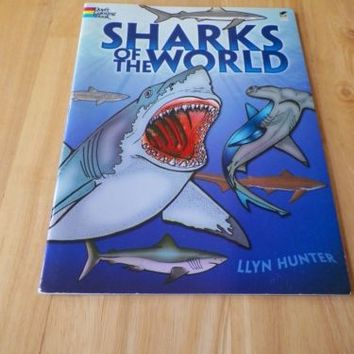 Sharks of the World Dover Coloring Book by Llyn Hunter Great Condition