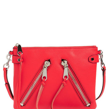Rebecca Minkoff 'Moto Jon' Leather Crossbody Bag