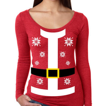 Santa suit Women's Long Sleeve Shirt