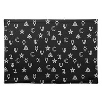 Witchcraft symbols cloth placemat