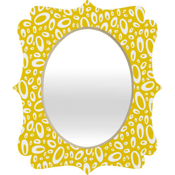 Heather Dutton Molecular Yellow Quatrefoil Mirror