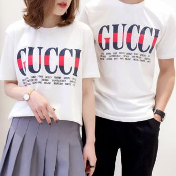 GIUCCI Counter Limited Edition Couples High Quality T-shirt Short Sleeves A-GQHY-DLSX