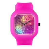 Leopard Print Neon Flower Watch> Dat watch place