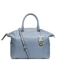 Riley Large Pebbled-Leather Satchel | Michael Kors
