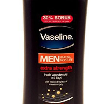 Vaseline Men Extra Strength Body and Face Lotion 13oz